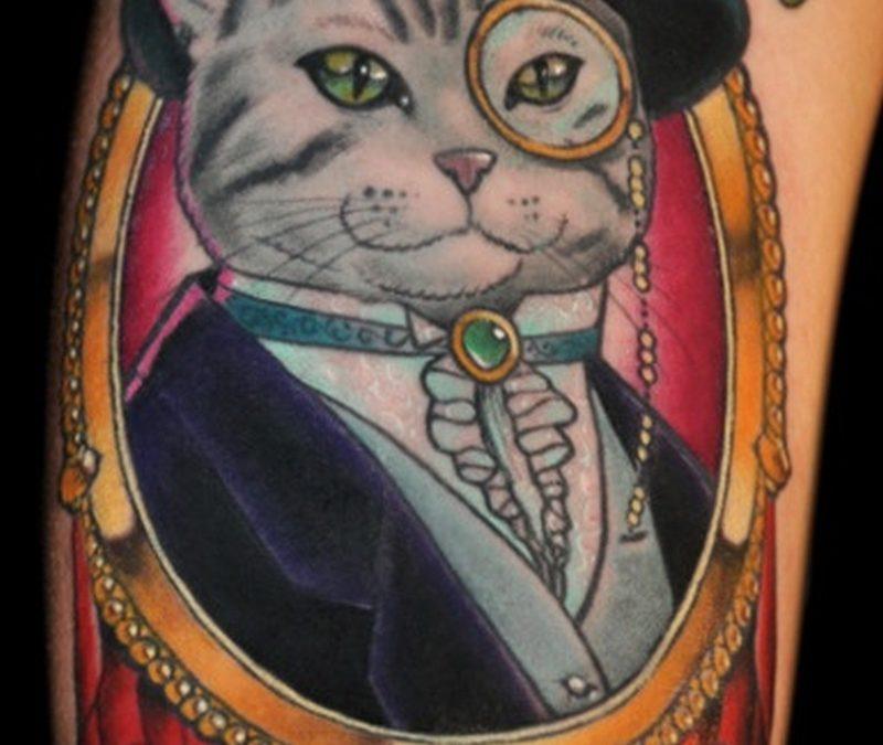 Funny cat tattoo picture