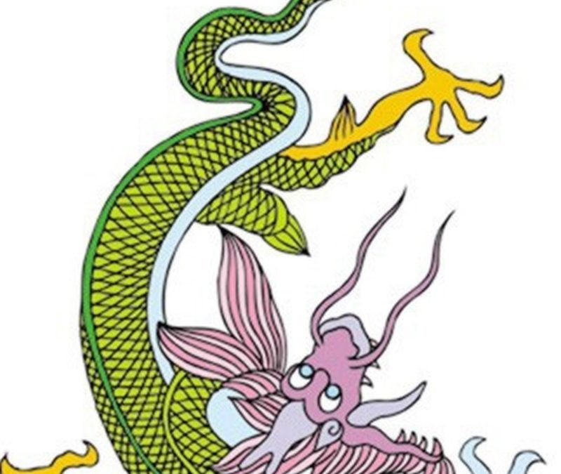 Funny chinese dragon tattoo design