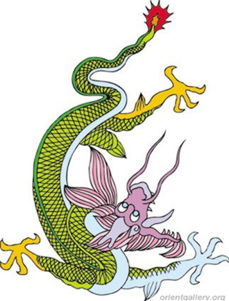 Funny chinese dragon tattoo design