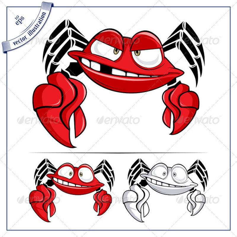 Funny crab tattoo designs