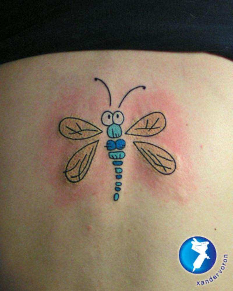 Funny dragonfly tattoo
