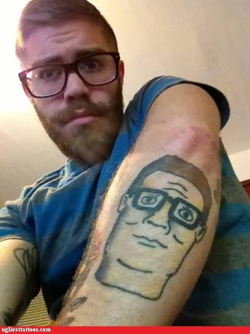 Funny Face Tattoo On Back Of Arm Tattoos Book 65 000