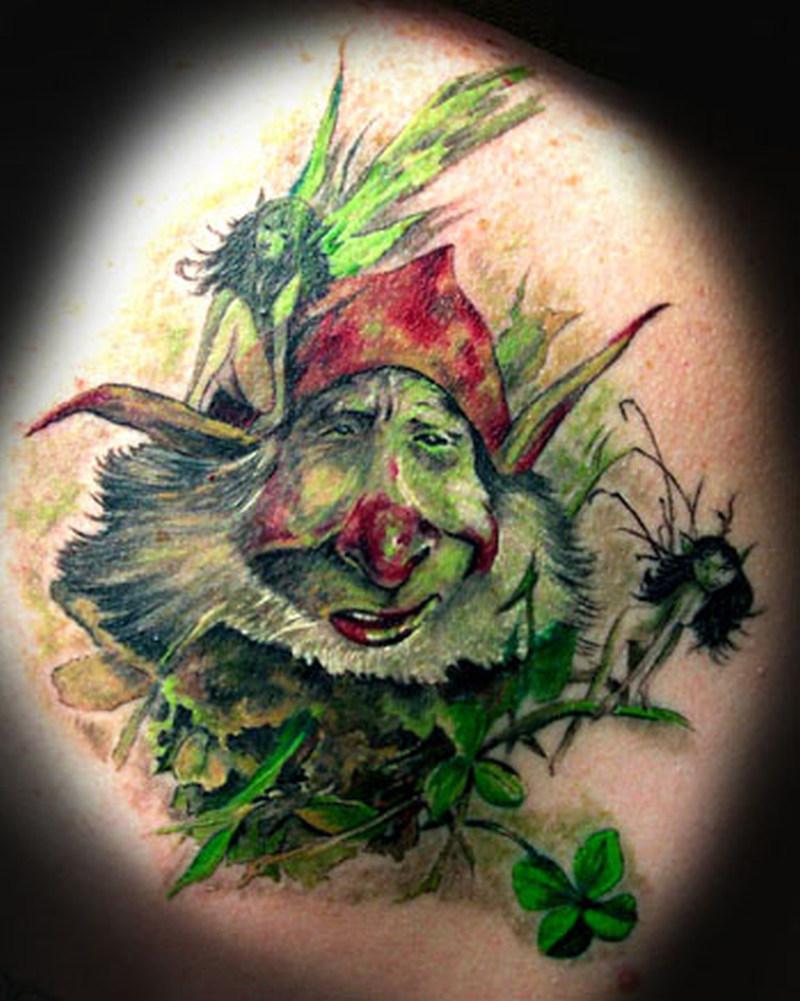 Funny fantasy tattoo design