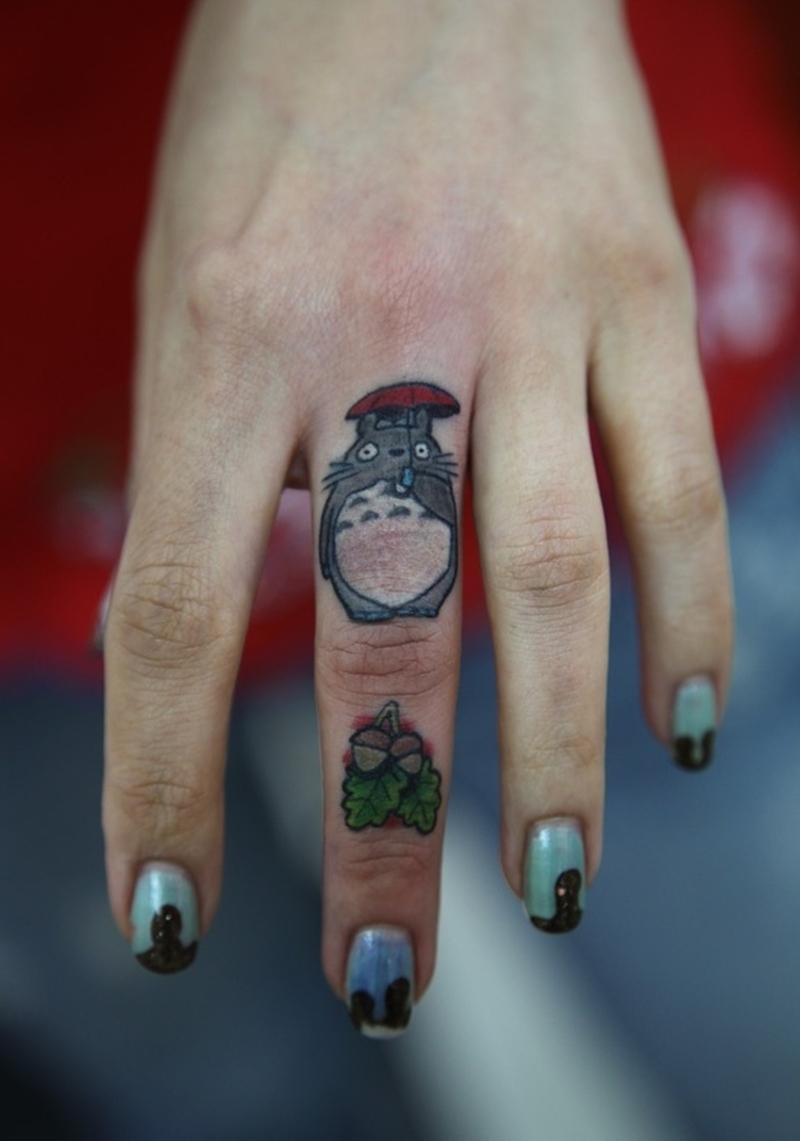 Funny finger tattoo design 2