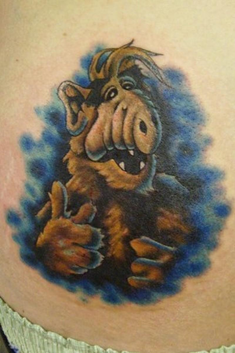 Funny tattoo art