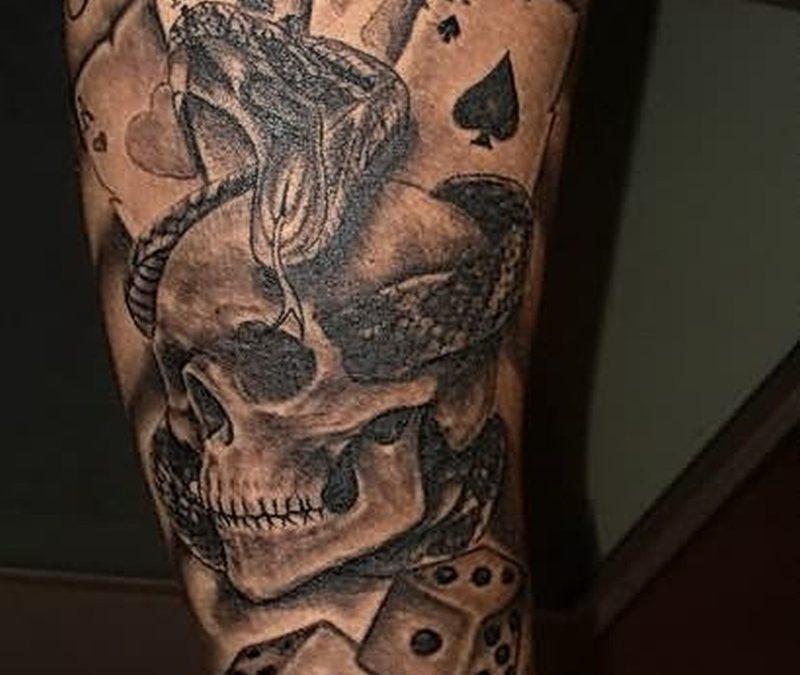 Gambling blog tattoo design