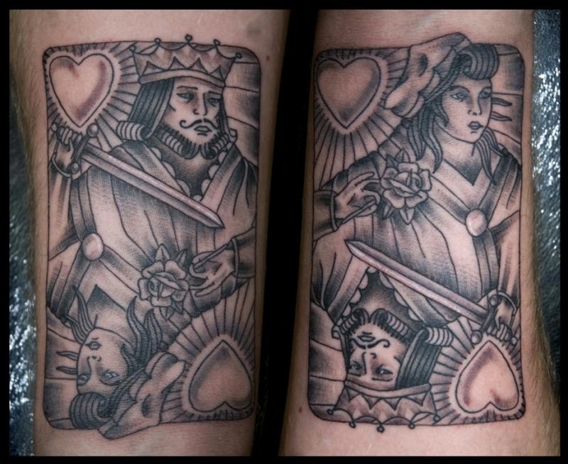 Gambling card tattoo design
