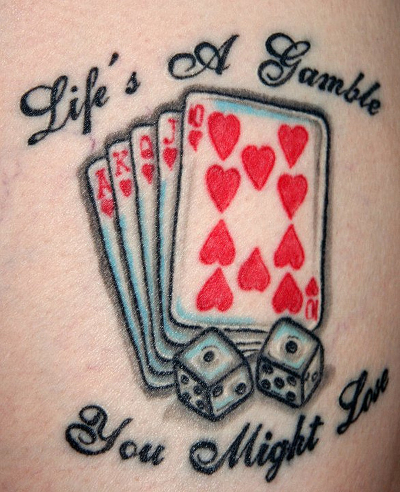 Card tattoo designs for women the image for Card tattoo designs