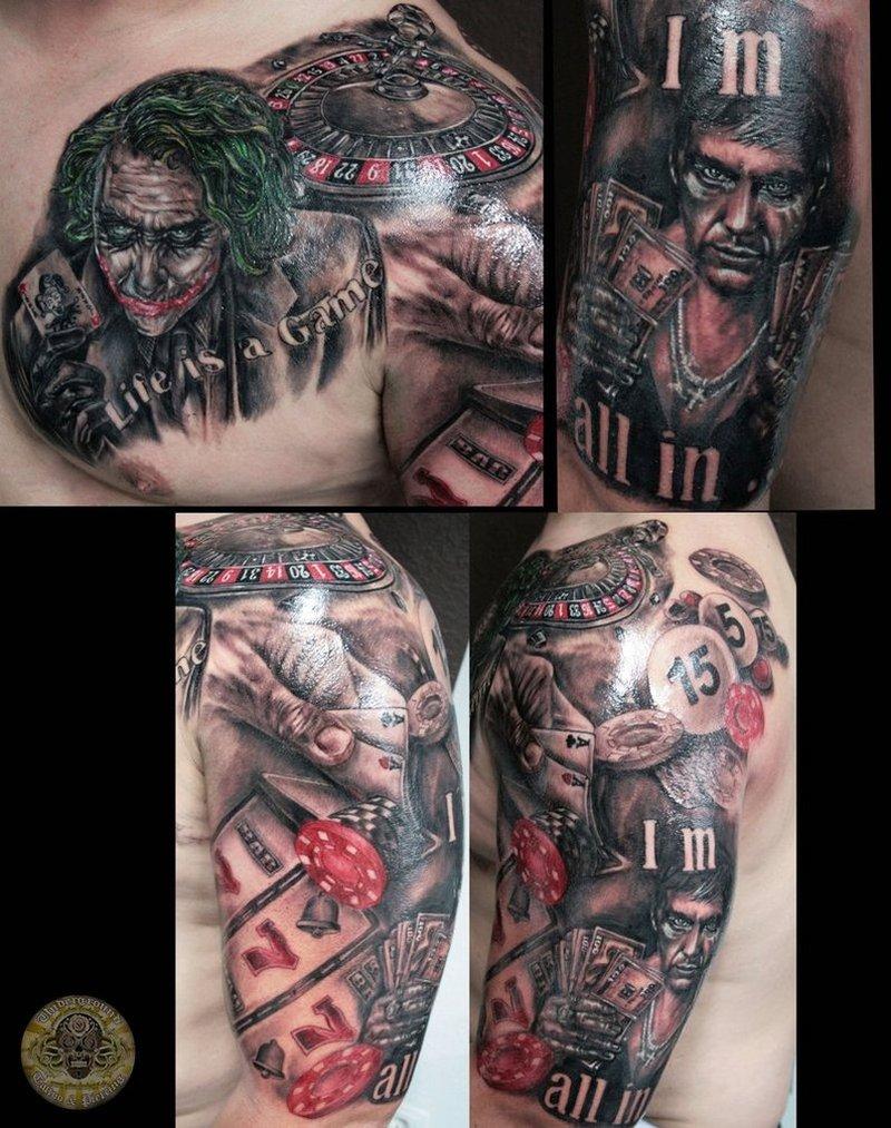Gambling joker tattoo stuff
