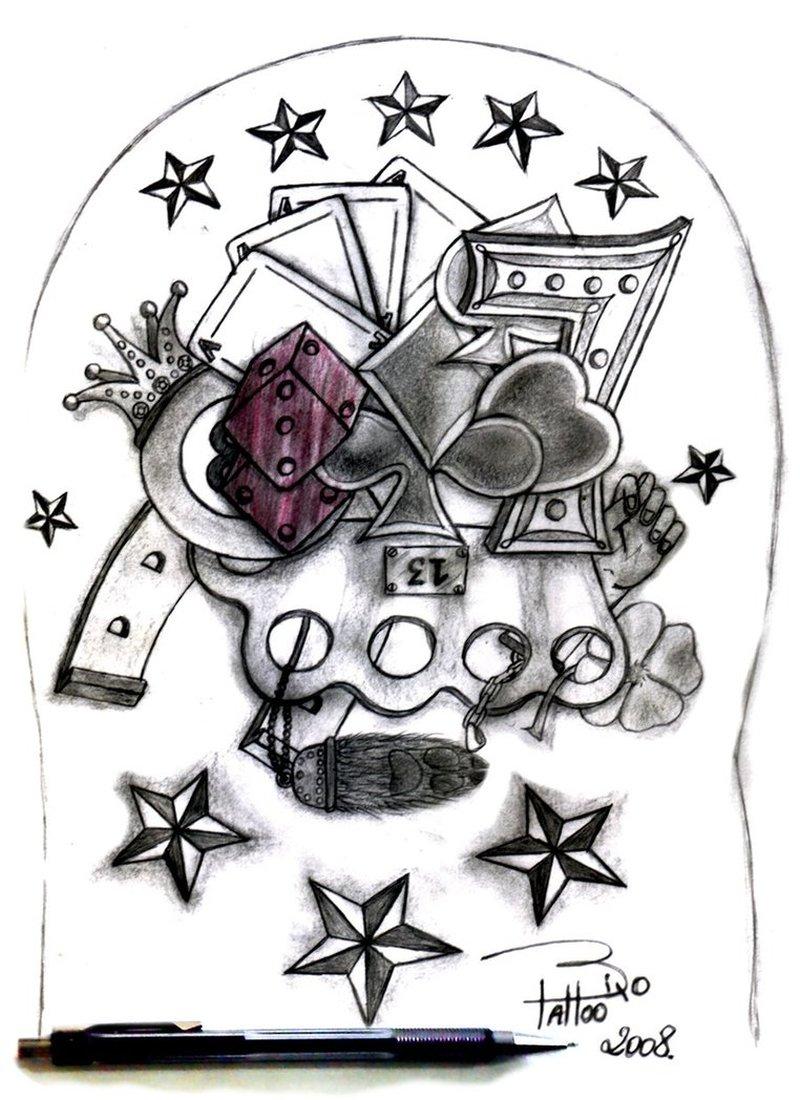Gambling tattoo designs