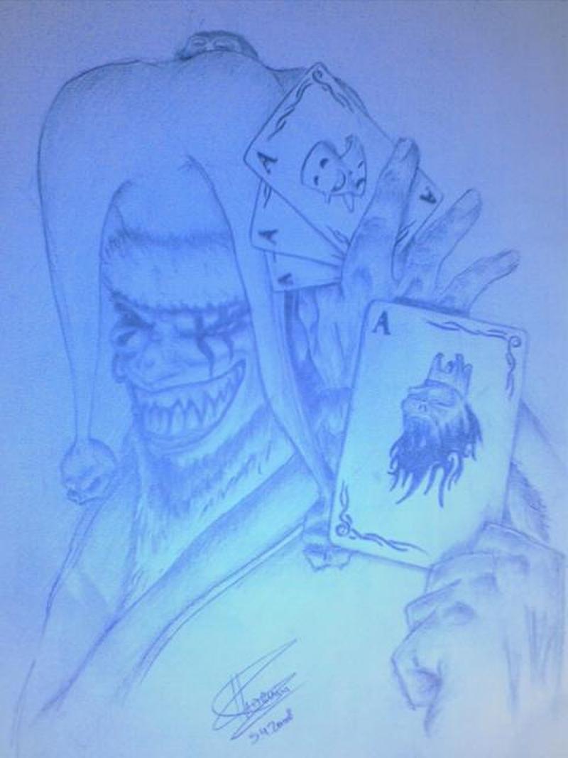 Gambling tattoo sketch