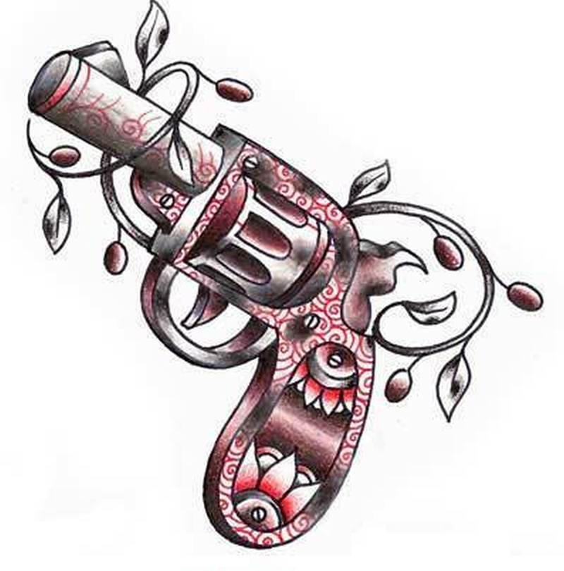 gangsta gun tattoo design tattoos book tattoos designs. Black Bedroom Furniture Sets. Home Design Ideas