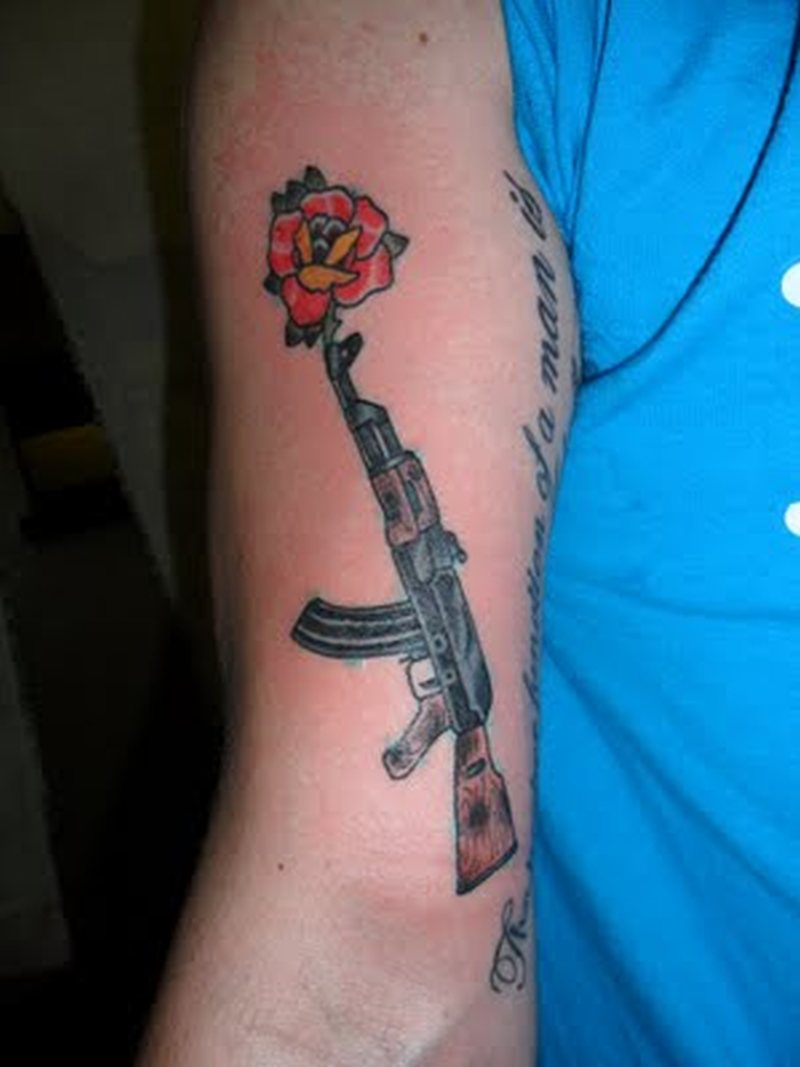 gangsta gun tattoo on right arm tattoos book tattoos designs. Black Bedroom Furniture Sets. Home Design Ideas