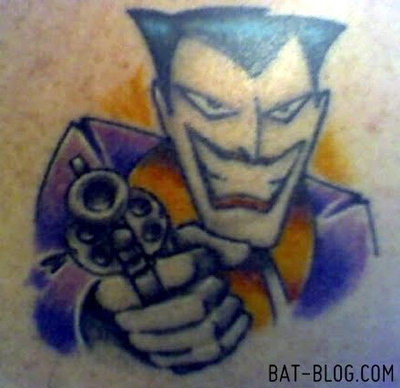Gangsta joker tattoo art
