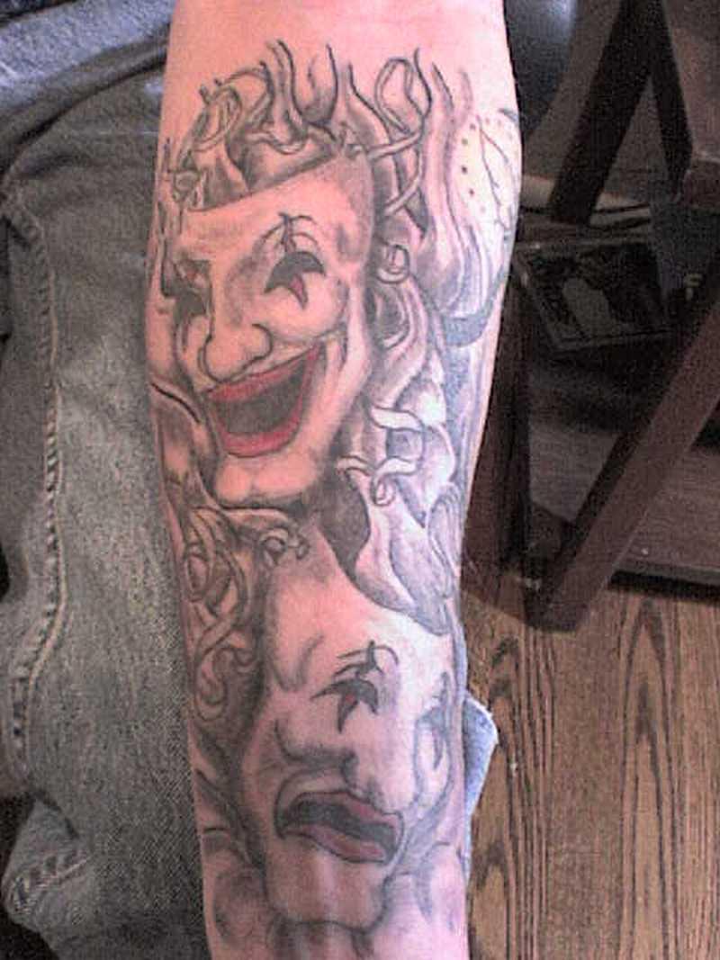 Gangsta joker tattoo design