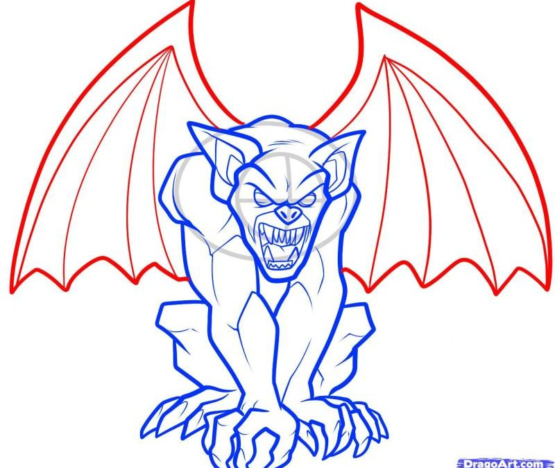 Gargoyle tattoo art 2