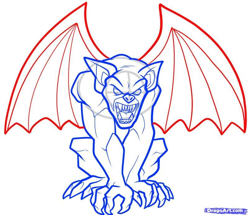 Gargoyle tattoo art 2