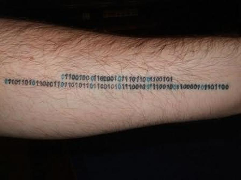 Geek tattoo design on arm