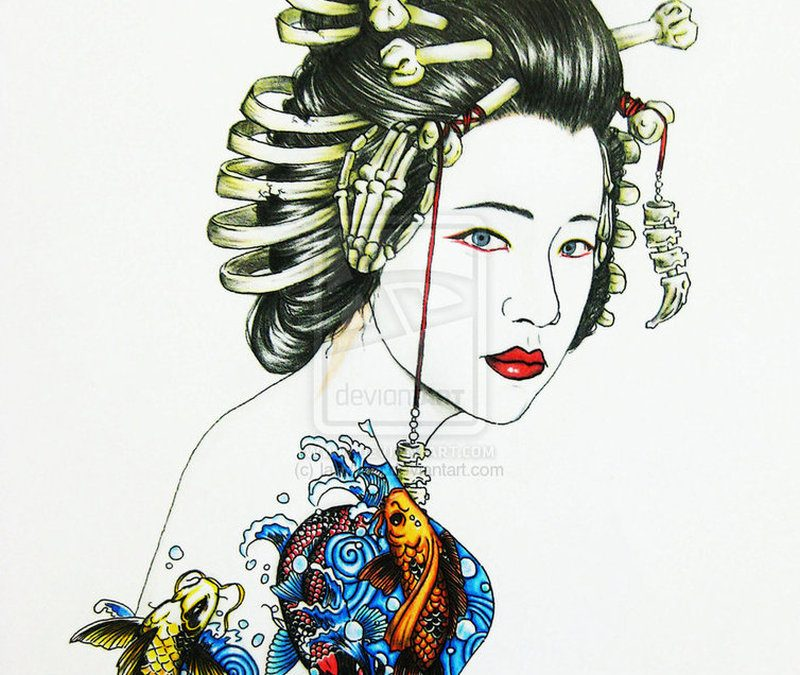 Geisha asian tattoo design