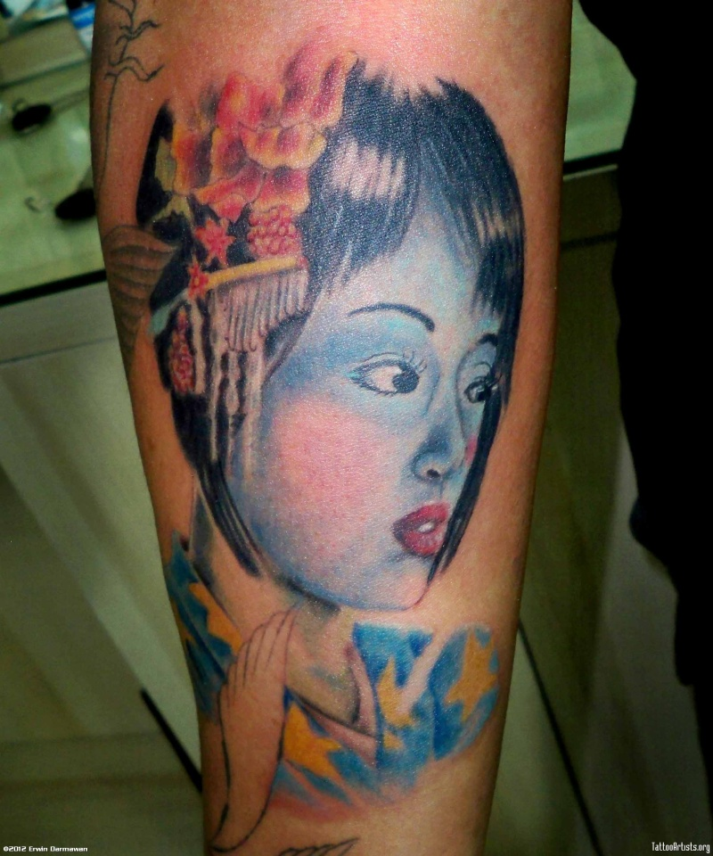 030ed3d8a Geisha color tattoo design - Tattoos Book - 65.000 Tattoos Designs