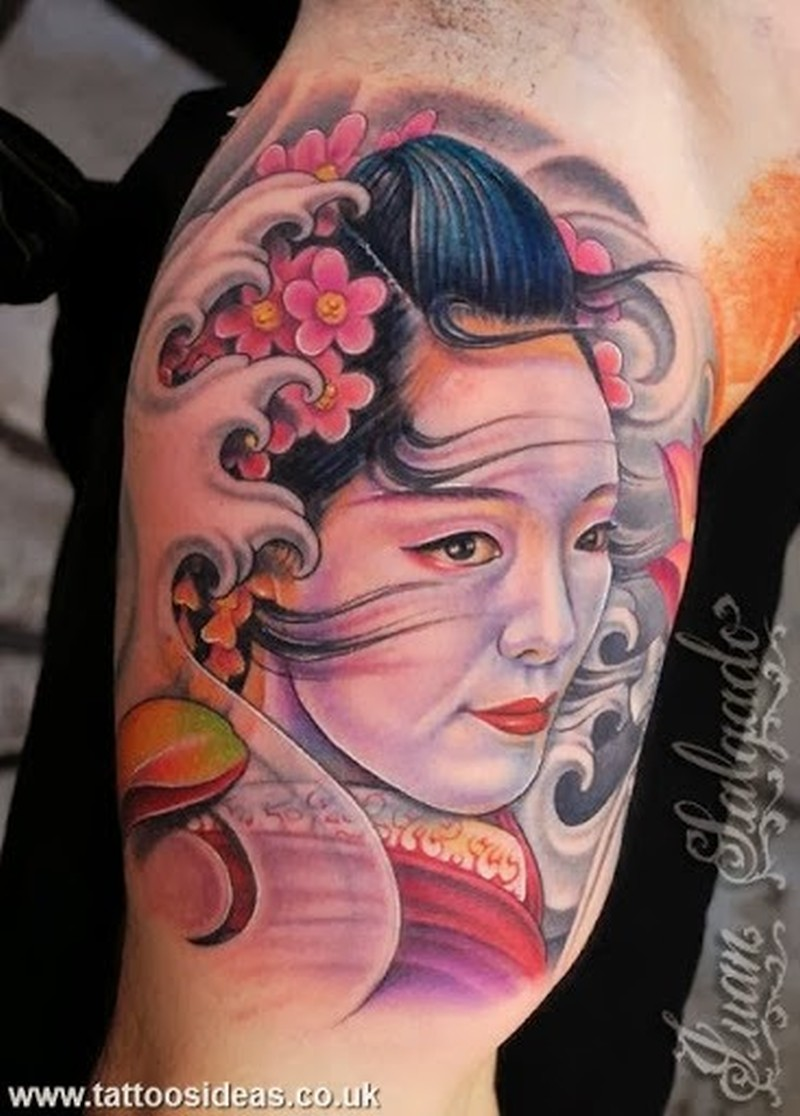059ebfa5b Geisha face tattoo on arm - Tattoos Book - 65.000 Tattoos Designs