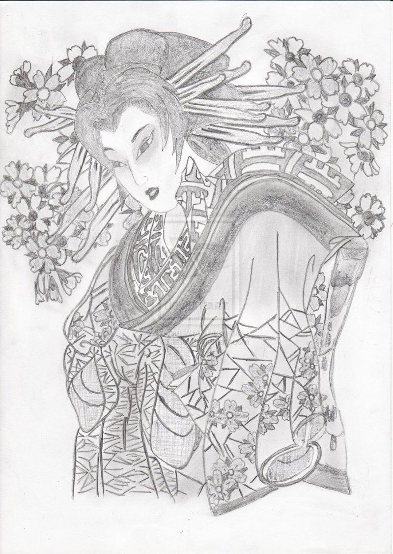 Geisha tattoo concept