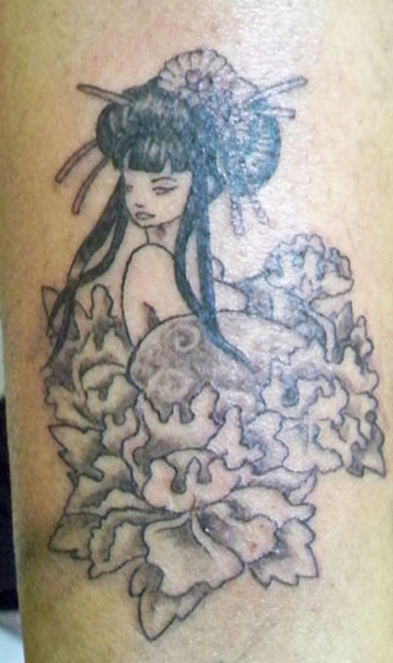 Geisha tattoo design 2