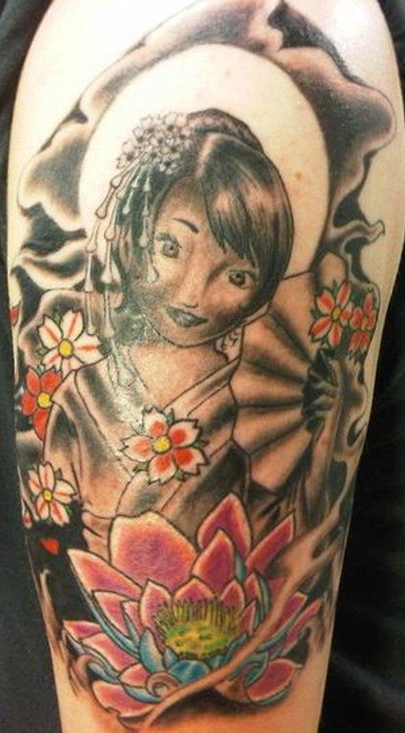 Geisha tattoo for you