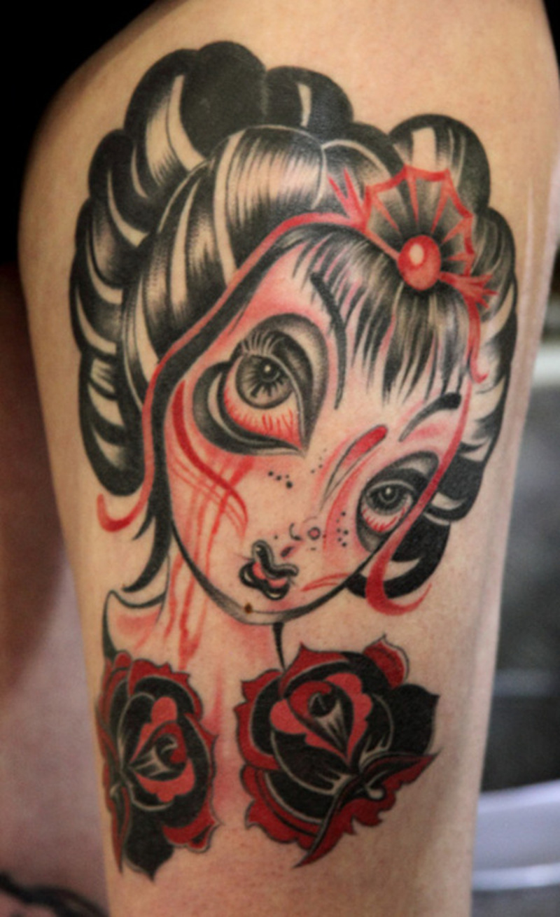 Geisha tattoo picture