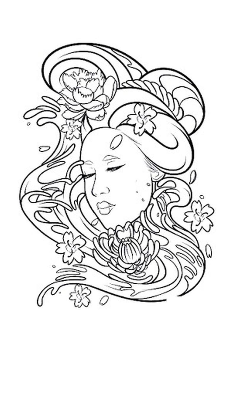 Geisha tattoo sample