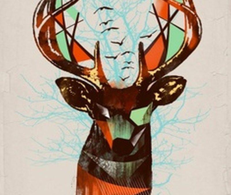 Geometric deer tattoo design 2