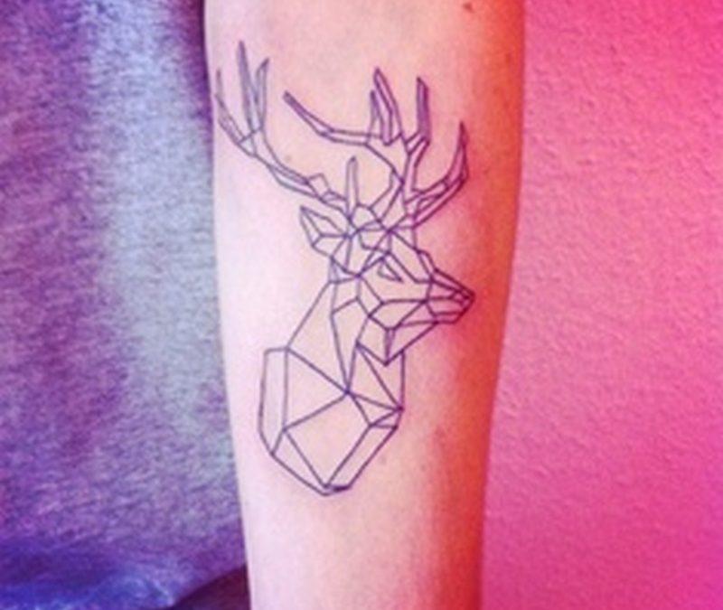 Geometric deer tattoo design