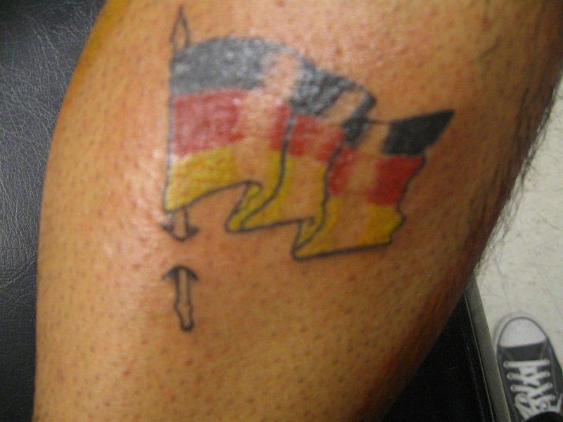 German flag tattoo design
