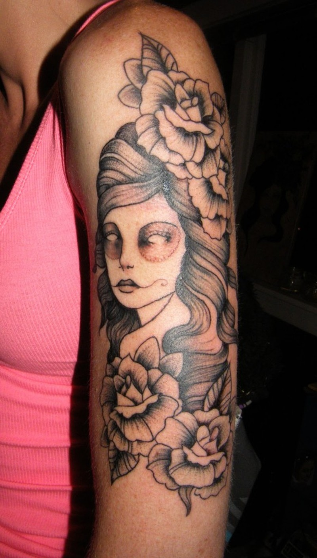 Girl arm tattoo