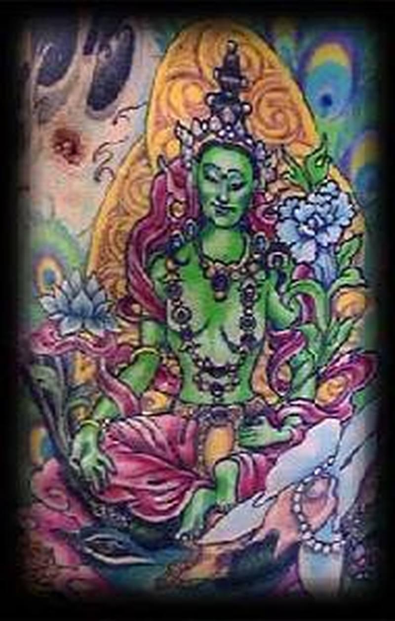 Goddess alien tattoo