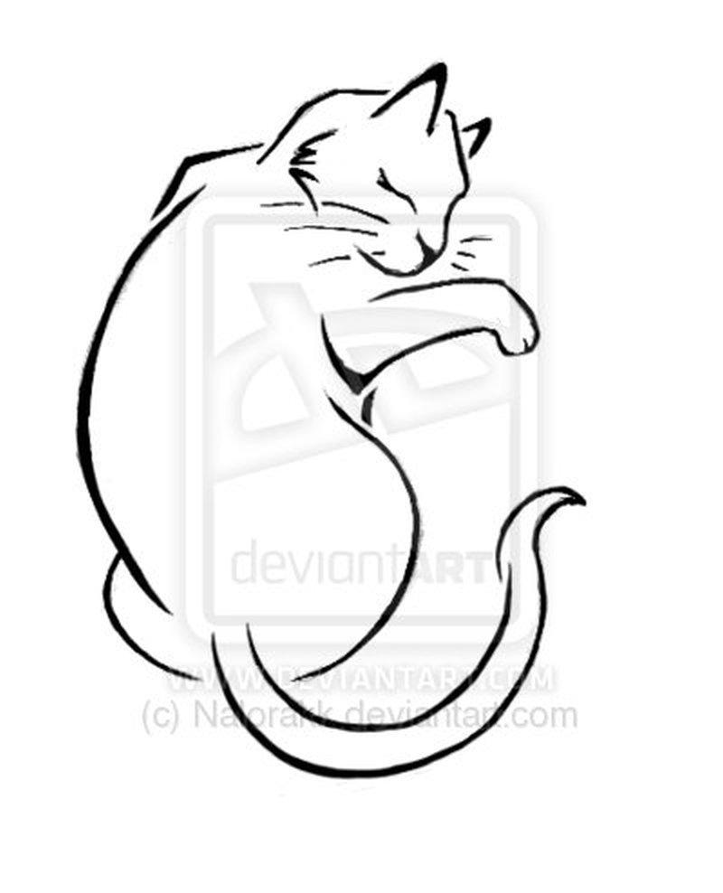 Good cat tattoo design