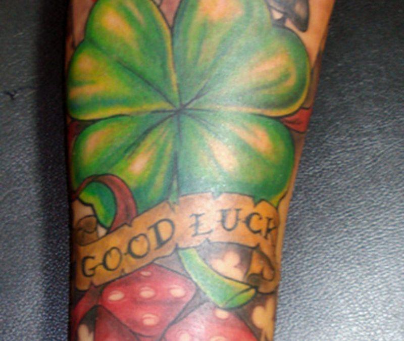Good luck gambling tattoo design