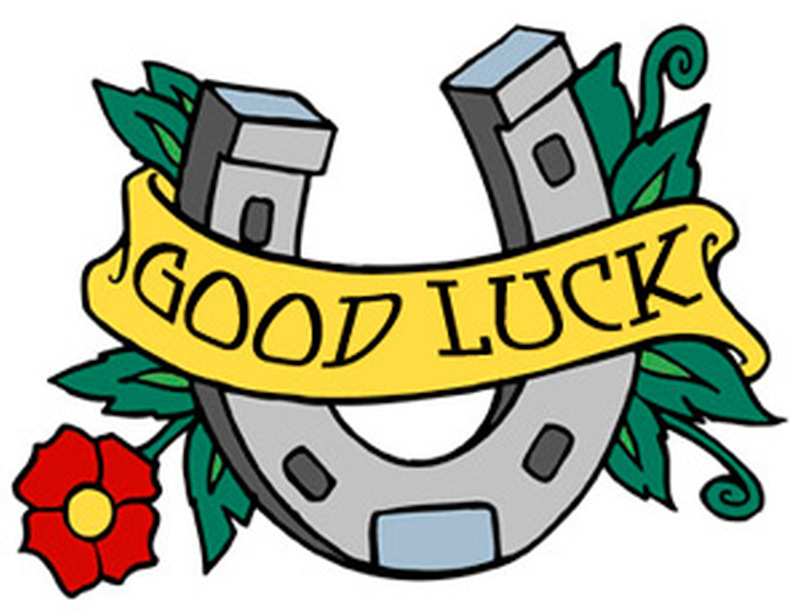 Good luck horseshoe tattoo design 3
