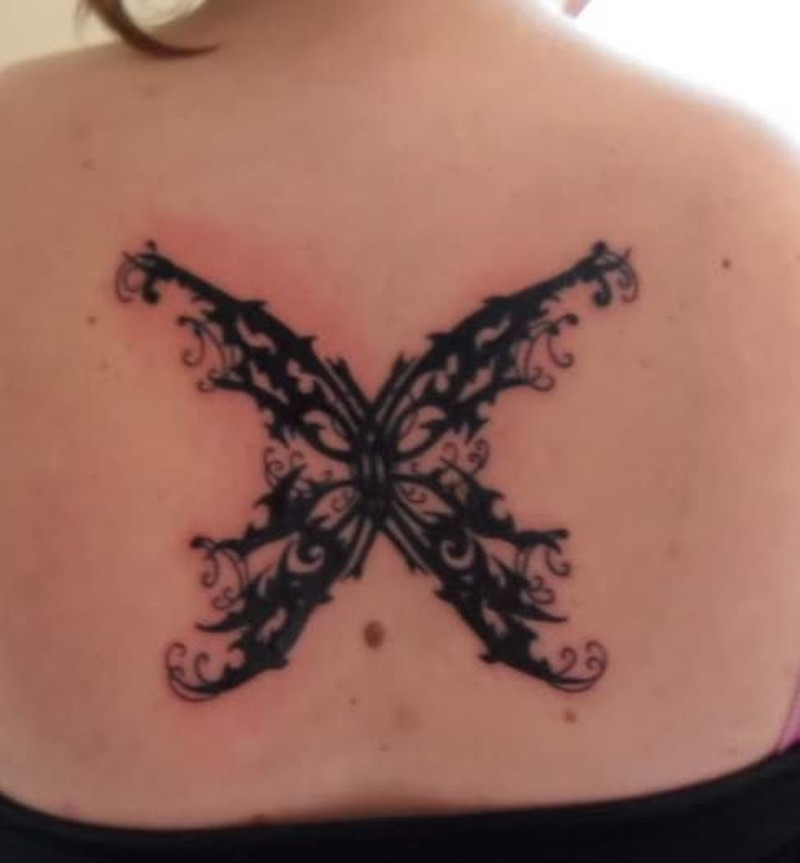 afad803f1 Gothic butterfly tattoo on back - Tattoos Book - 65.000 Tattoos Designs