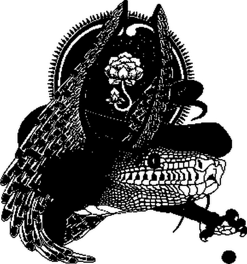Gothic dragon tattoo design