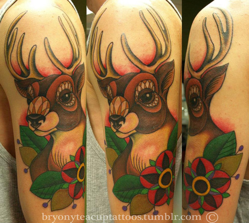 Great deer tattoo design