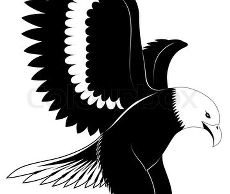 Great eagle tattoo design