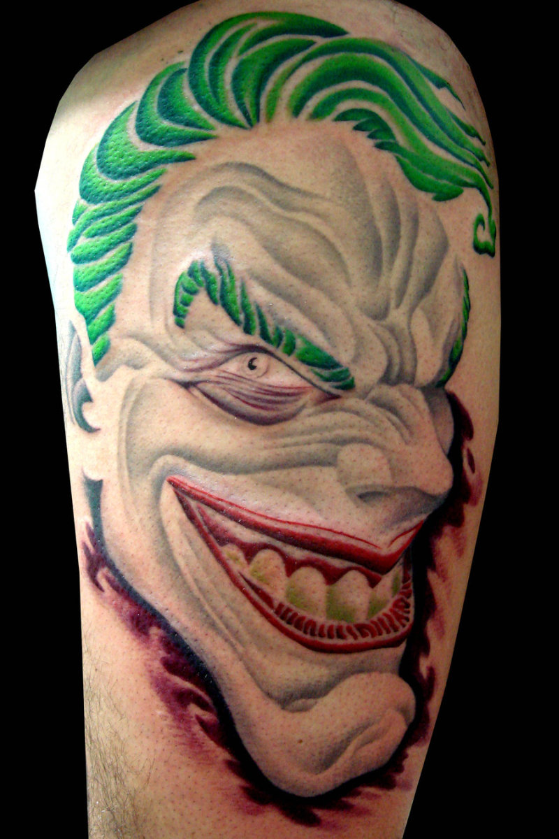 green hair evil joker tattoo design tattoos book tattoos designs. Black Bedroom Furniture Sets. Home Design Ideas