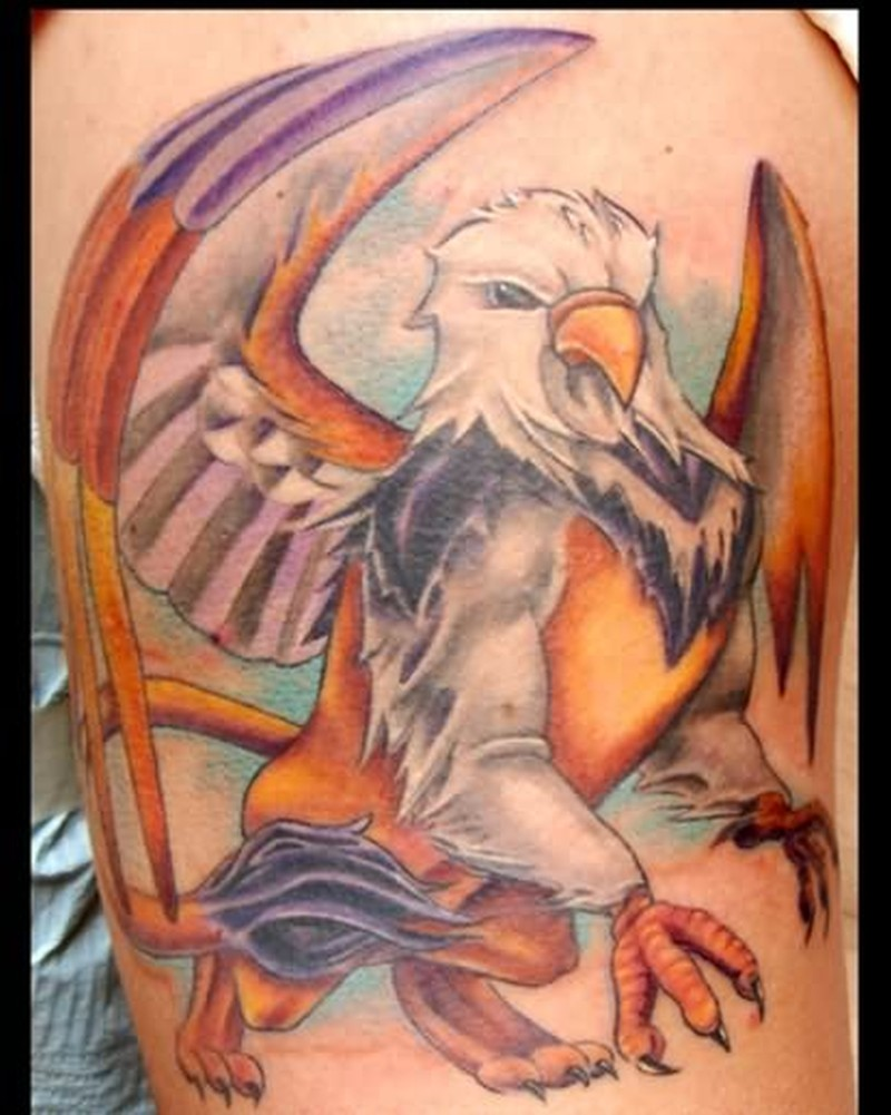 Griffin fantasy tattoo design