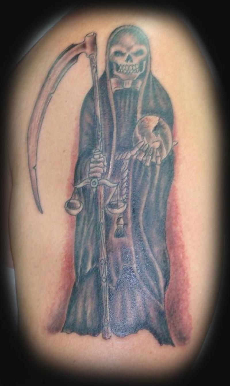Grim reaper tattoo in classic style