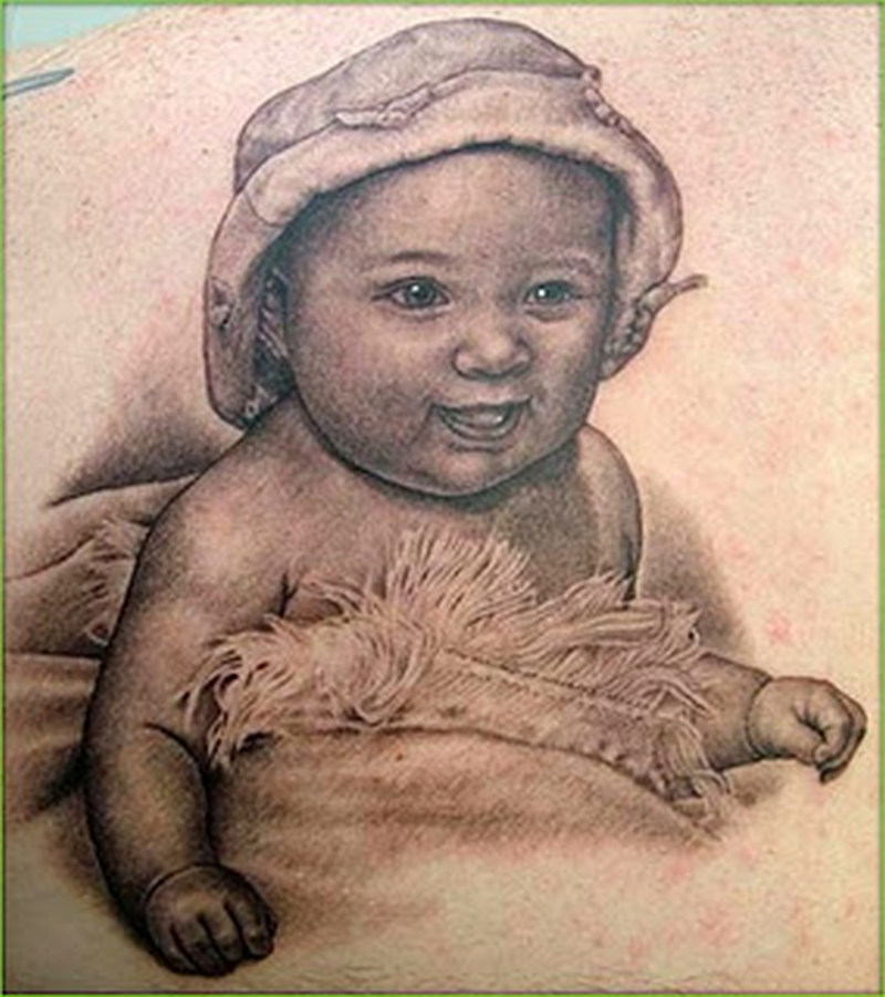 Gud baby tattoo design