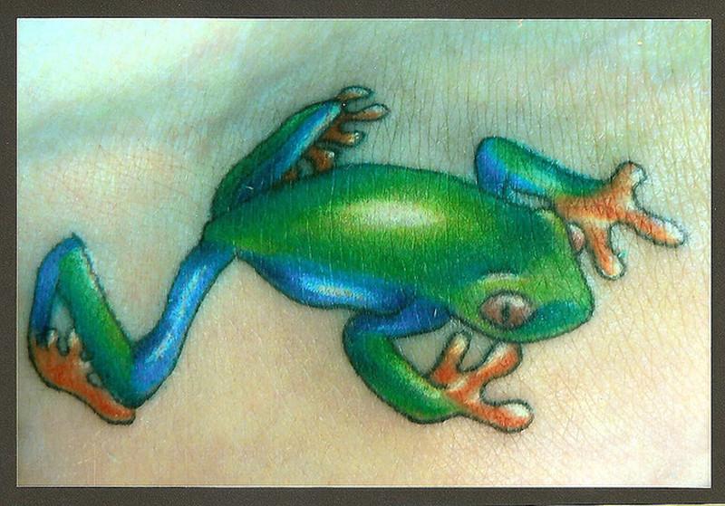 Gud frog tattoo image