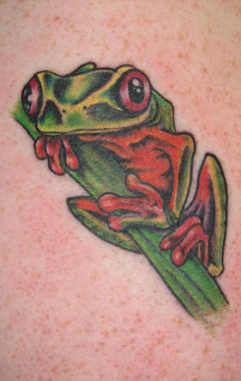 Gud looking frog tattoo design