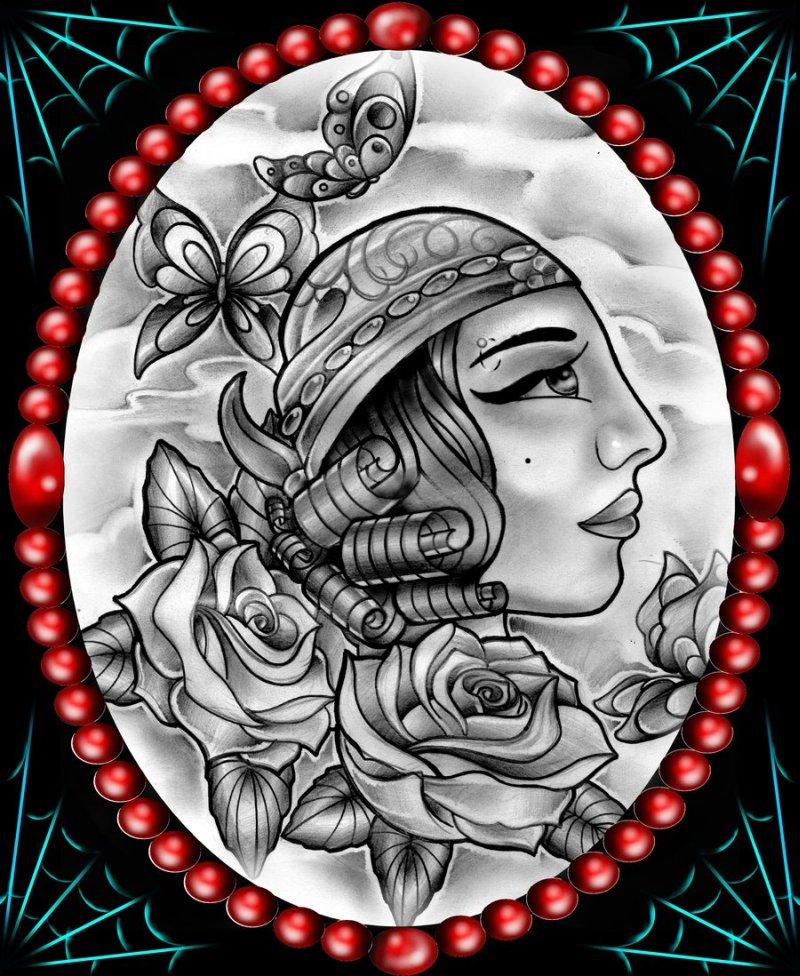 Gypsy girl tattoo style tattoos book tattoos for Tattoo girl book