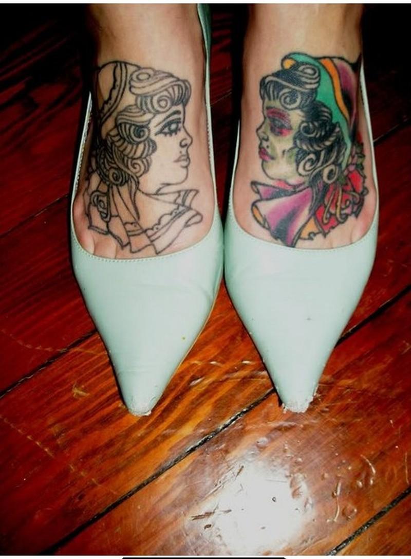 Gypsy tattoo designs on feet